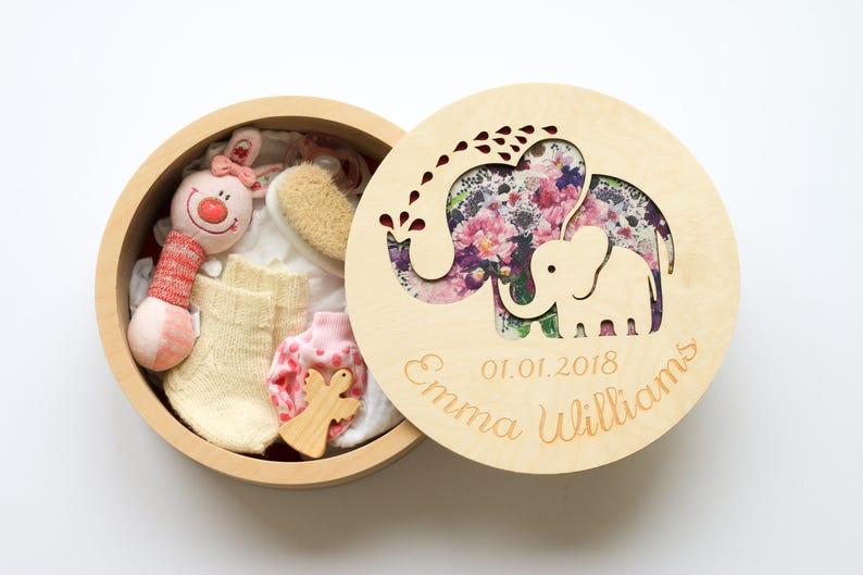 Memory box for kids Blessing gift girl Unique new mom gift image 0