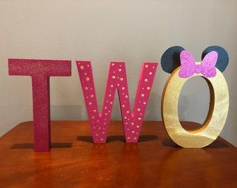 Minnie Wooden Birthday Letters