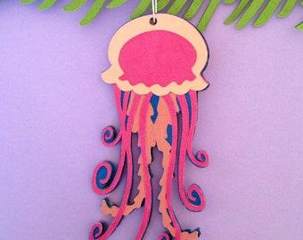 Jellyfish Christmas tree ornament