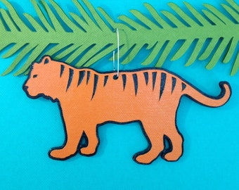 Tiger Christmas tree ornament