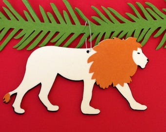 Lion Christmas tree ornament