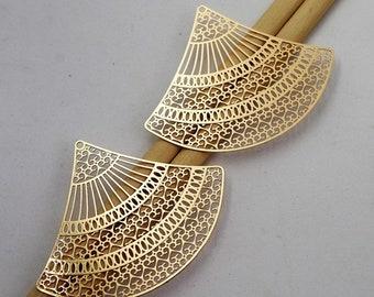 10 pendentif Boucles Couleur Bronze #385
