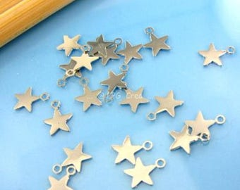 Silver Star, set of 20, Diam 5.40 mm #247 prints