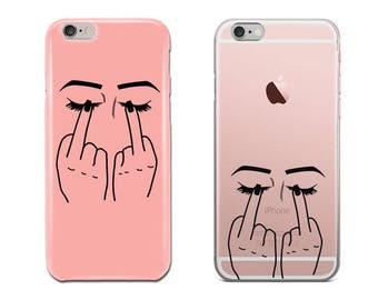 Middle Finger Eyes Phone Case, iPhone 6S Plus, iPhone 7 Case, iPhone 8 Plus, iPhone X, Samsung Galaxy S8 Case, Samsung Galaxy S7