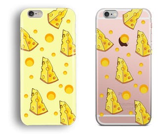 Pattern with a Slice of Cheese Phone Case, iPhone 5S, iPhone 6S, iPhone 7, iPhone 8 Plus, iPhone X Case, Samsung Galaxy S8 Case, Galaxy S7