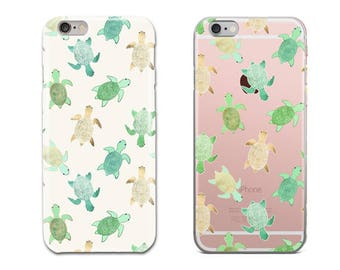 Turtle Phone Case, iPhone 6S Case, iPhone 6 Plus Case, iPhone 7 Case, iPhone 8 Plus Case, iPhone X Case, Samsung Galaxy S8 Case, Galaxy S7