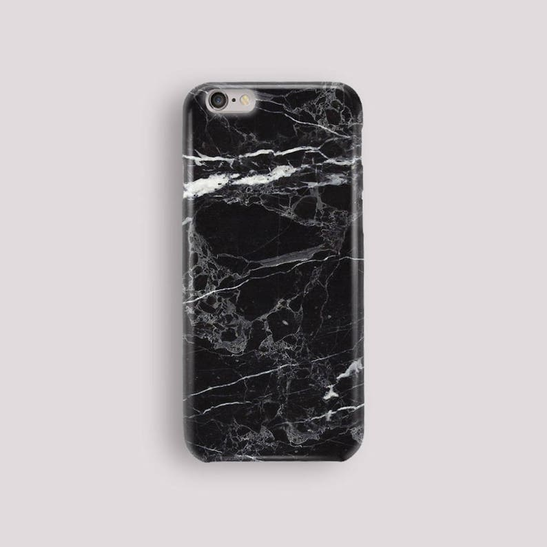 uk availability d64f7 6f0e3 Black Marble Phone Case, iPhone 5S Case, iPhone 6S Plus, iPhone 7 Case,  iPhone 8 Plus Case, Samsung Galaxy S8 Case, Samsung Galaxy S7