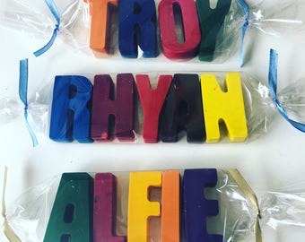 Letter name crayons