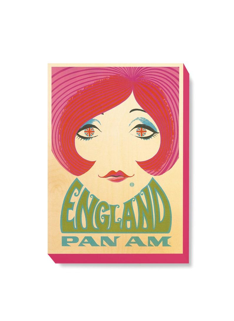 Vintage Travel Poster Art England PanAm Airlines Art Print on image 0
