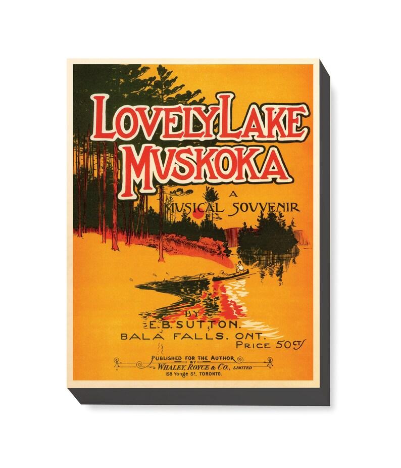 Vintage Travel Art Lovely Lake Muskoka Musical art print / image 0