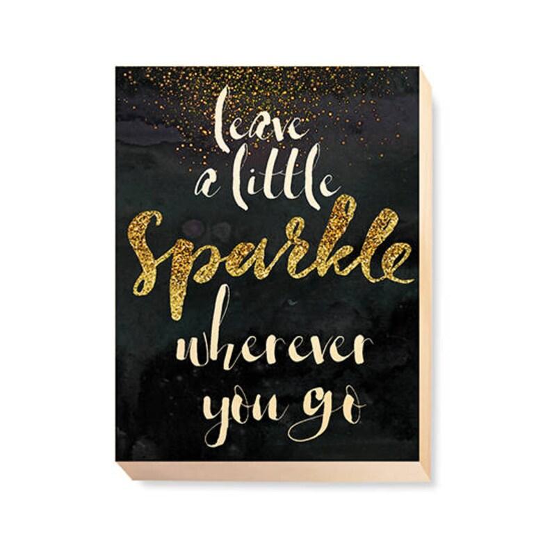 Motivational Word Art Leave A Little Sparkle Wherever image 0