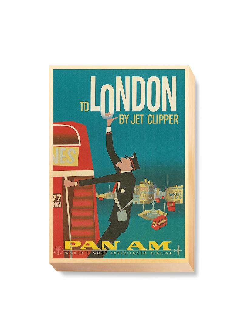 Vintage Travel Poster Art London by Jet Clipper PanAm image 0