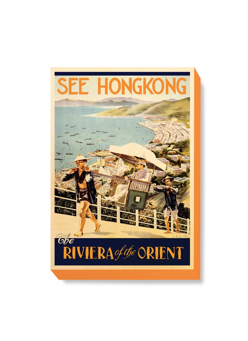 Vintage Travel Poster Hong Kong  The Rivera of the Orient image 0