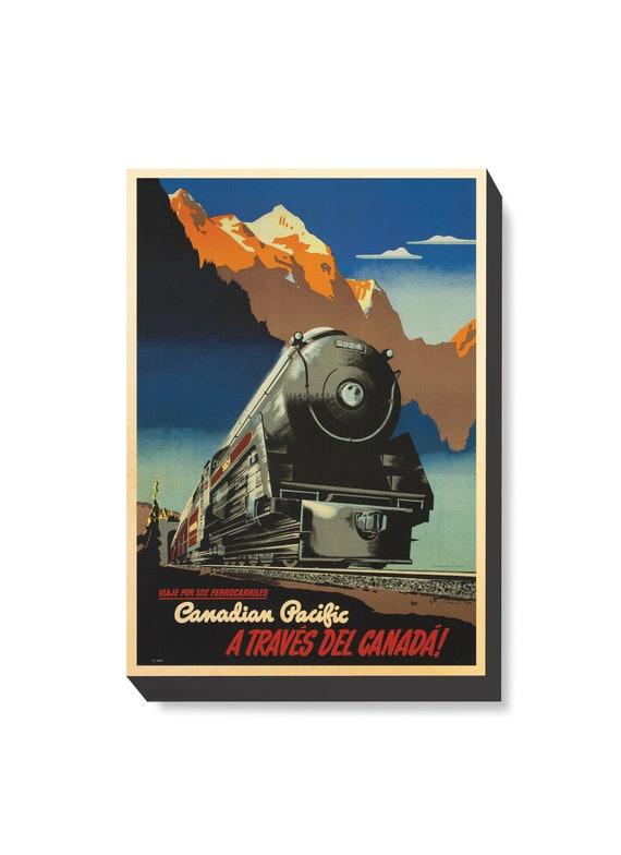Canadian Pacific Railway Travel Poster Updated Retro Train Art Print 298