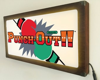 Punch-Out Arcade marquee style sign Back Lit / Light Signs /Light up Signs / Vintage looking Sign / Bar Sign LED Sign / by GBDW