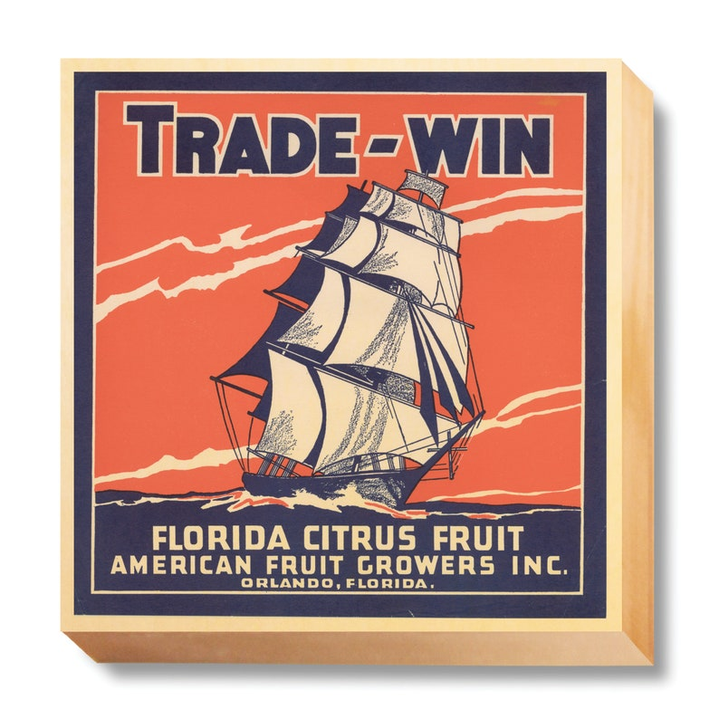 Vintage Crate Art Trade Winds Florida Fruits art print / image 0