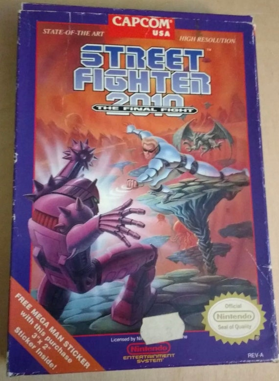 Street Fighter 2010 The Final Fight Nes Great Condition Fast Etsy