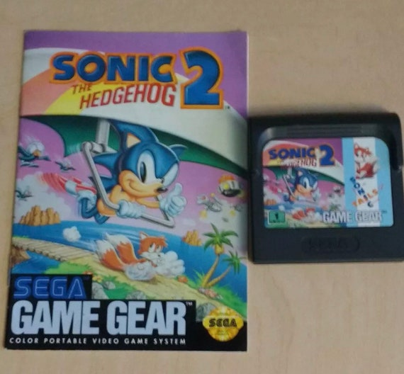 Sonic The Hedgehog 2 Sega Game Gear 1992 Cartridge And Etsy