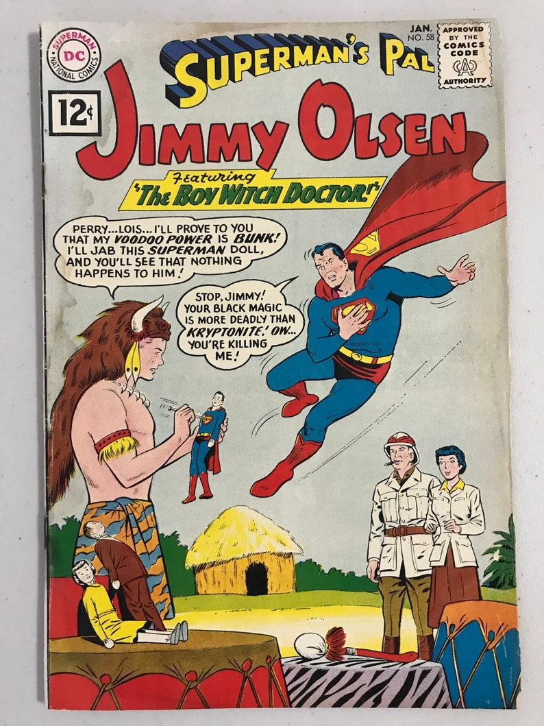 Superman's Pal Jimmy Olsen 58 strict Witch Doctor Jimmy, Lois and Perry!  Wonder Woman Flash Batman not Marvel