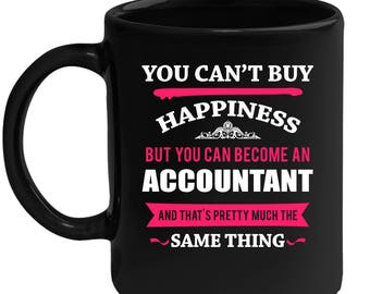 Mug for Accountant Gift for Accountant Black mug, Gift for Coffee or Tea lover, Chrirstams gift for coworker