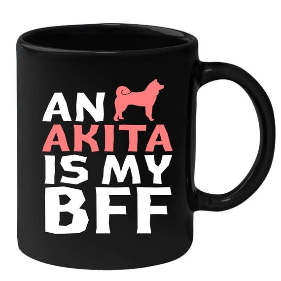 Akita Gift Black Akita Coffee Mug