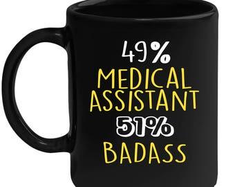 Mug for Medical Assistant Gift for Medical Assistant Black mug, Gift for Coffee or Tea lover, Christmas gift for coworker