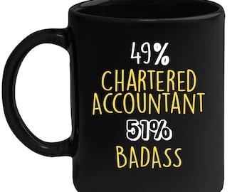 Mug for Chartered Accountant Gift for Chartered Accountant Black mug, Gift for Coffee or Tea lover, Christmas gift for coworker