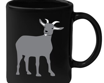 Goat - Animal Illustration 11 oz Black Coffee Mug