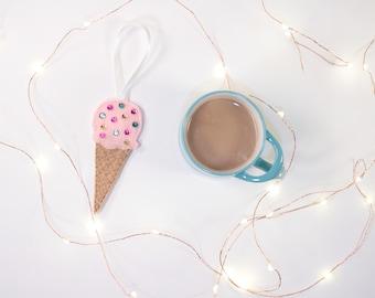 Ice Cream Cone Ornament