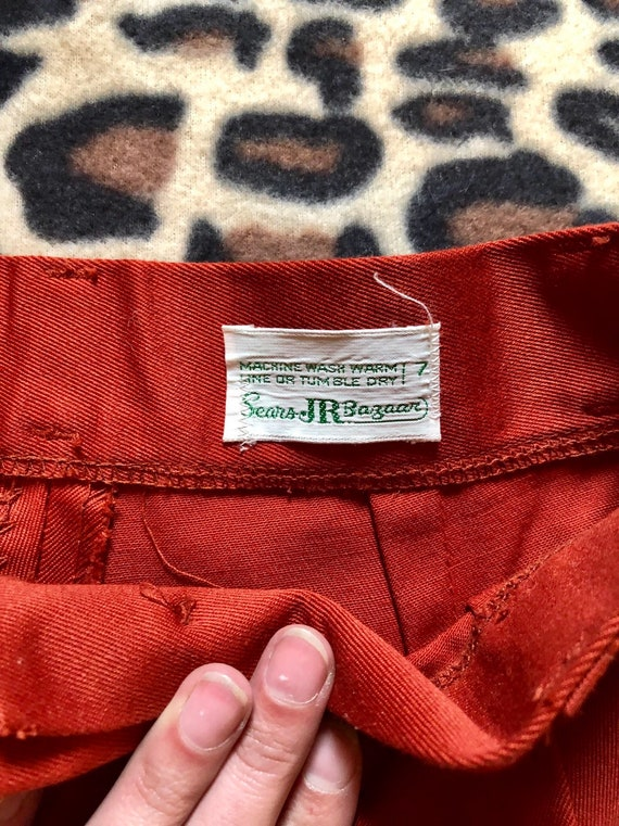 1970's Rust Sears Bell Bottoms Pants - image 6
