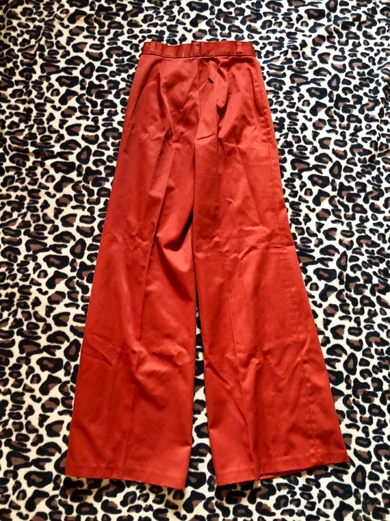 1970's Rust Sears Bell Bottoms Pants - image 9