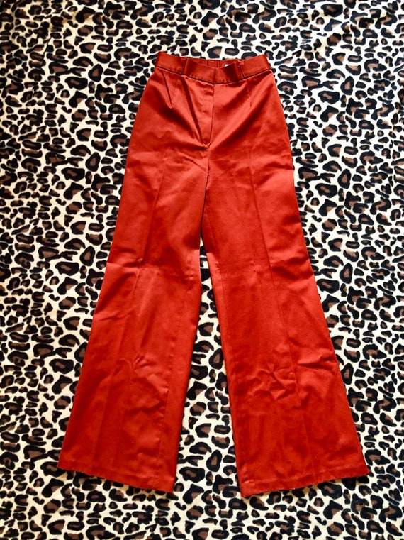 1970's Rust Sears Bell Bottoms Pants - image 3