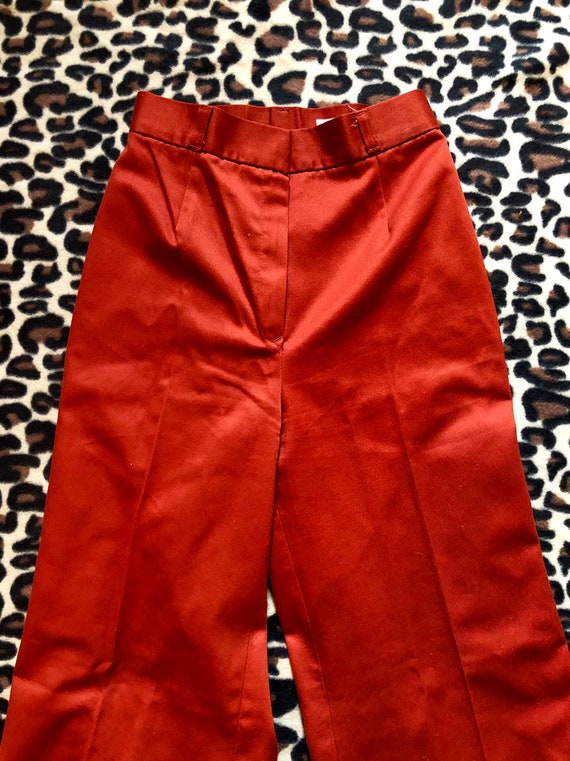 1970's Rust Sears Bell Bottoms Pants - image 4