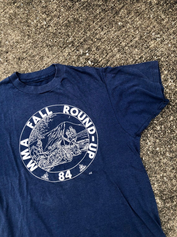 1984 Vintage MMA Roundup Motorcycle T Shirt