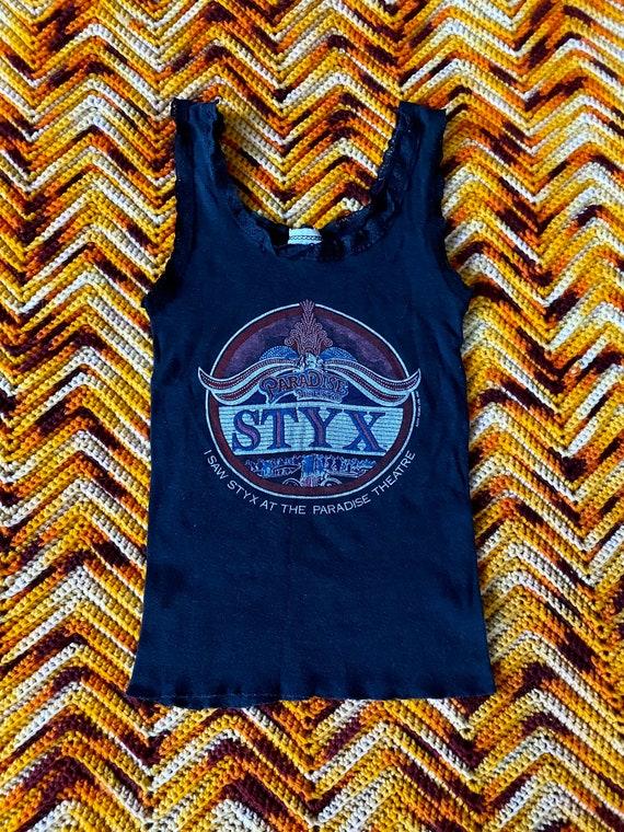 1981 Vintage Styx Paradise Theater Tour Lace Tank