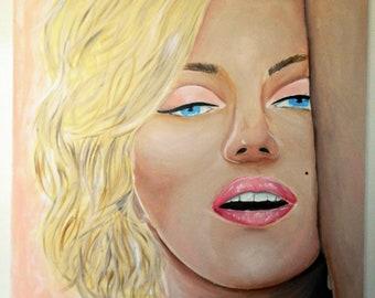 Marilyn Monroe Painting on Canvas