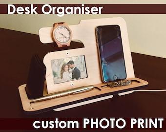 Iphone Dockdesk Gift Ideasdesktop Organizersoffice For Menunique Gifts Dadunique Dadbusiness Organizergifts Me