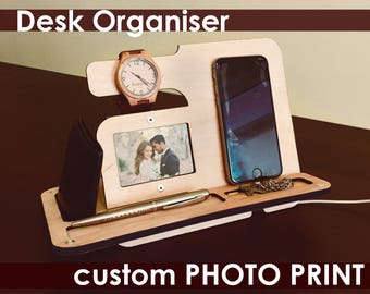 Iphone Stand Holderdesk Gift For Himtable Top Decornew Joh Office Giftdesktop Accessoryone Year Anniversary18th Birthdaysister In Law