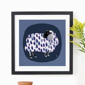BrightPopShop 2020 Print by Kayla Kinsella Meier Sheep-Scape 4