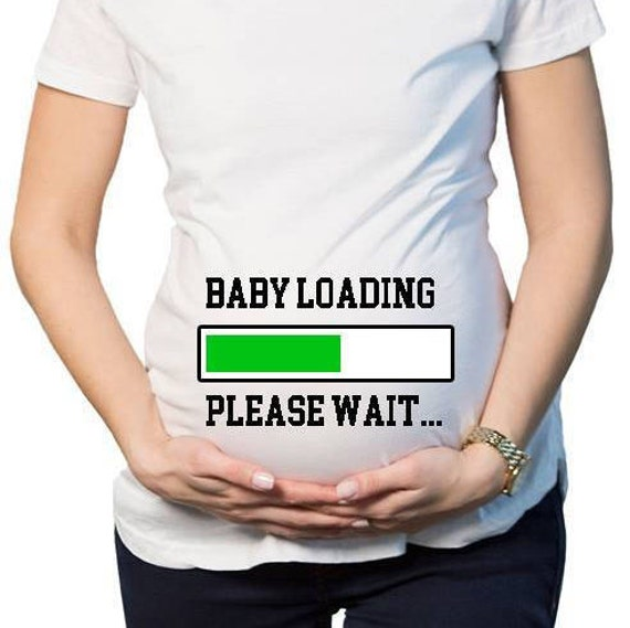 763c520d Baby Loading Please Wait Pregnancy Announcement Shirts Funny | Etsy