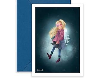 Luna Lovegood - Postcard