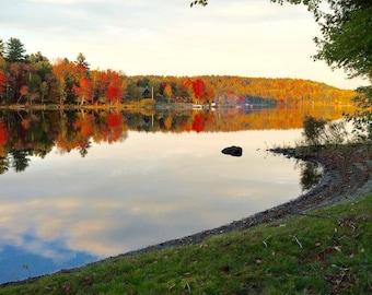 5 x 7 Framed Photo of Fall Foliage on Sebec Lake