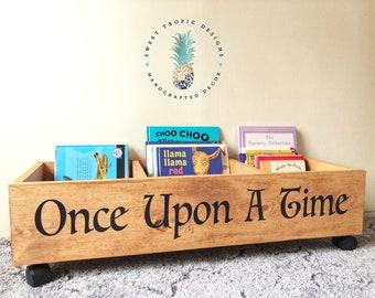 Once Upon A Time Bookcase Nursery Decor Kids Mini Library Kids Bookshelf Book Storage Toy Storage Baby Shower Gift Kids Birthday Gift & Kids book storage | Etsy