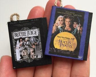 Custom tiny DVD ornament, custom movie tree ornament