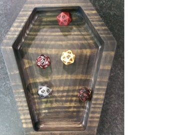 Graves Tabletop Gaming Coffin Dice Tray