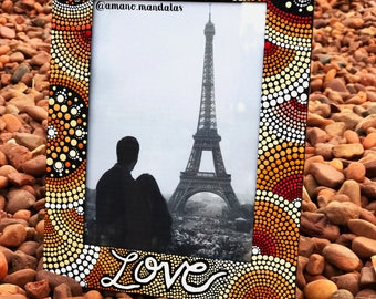 Mandala design picture frame