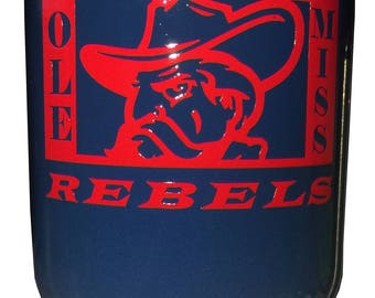 Original Design Ole Miss Rebels stainless steel tumbler