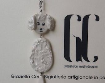 Ceramic Poodle necklace