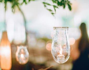Handblown Glass Hanging Lantern
