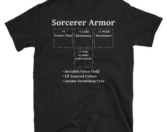 Sorcerer Armor: Role Playing DND 5e Pathfinder RPG Tabletop RNG Short-Sleeve Unisex T-Shirt
